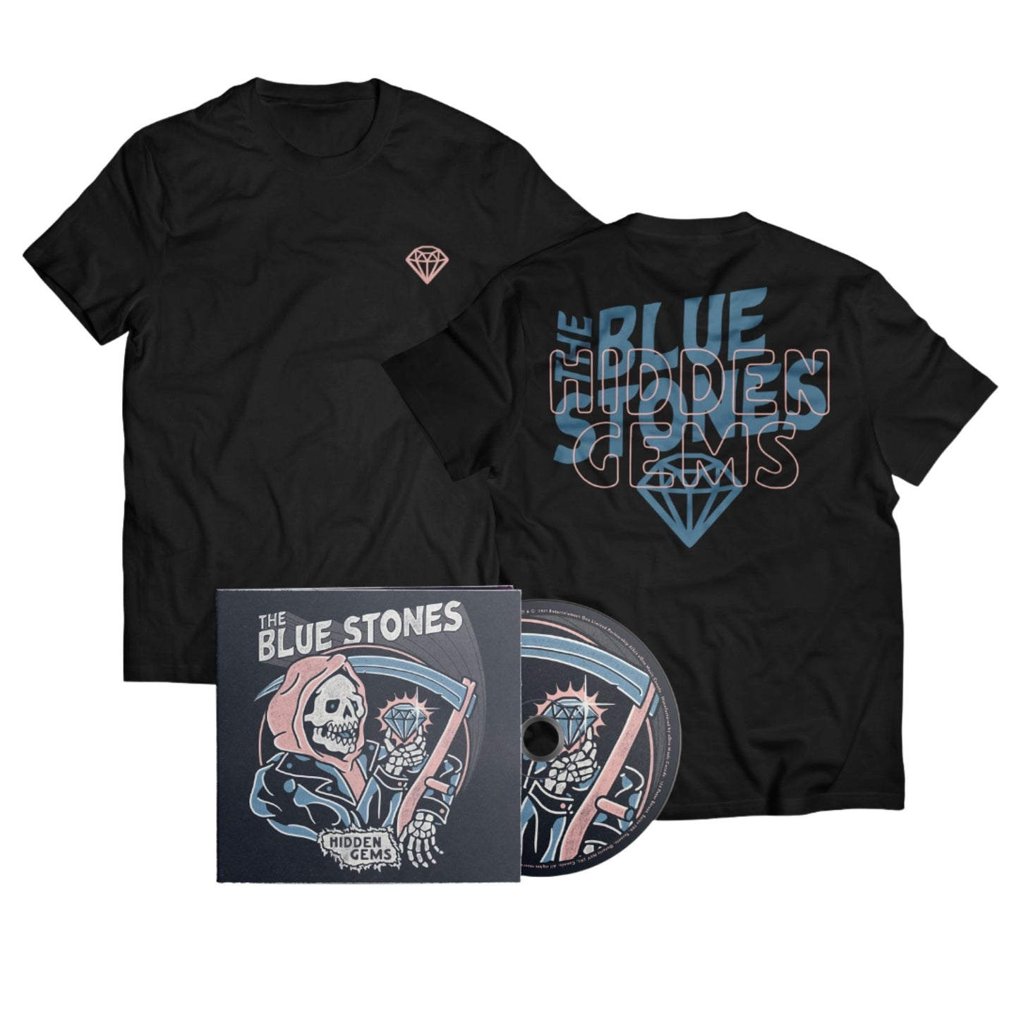 The Blue Stones - Hidden Gems Shirt + CD Bundle