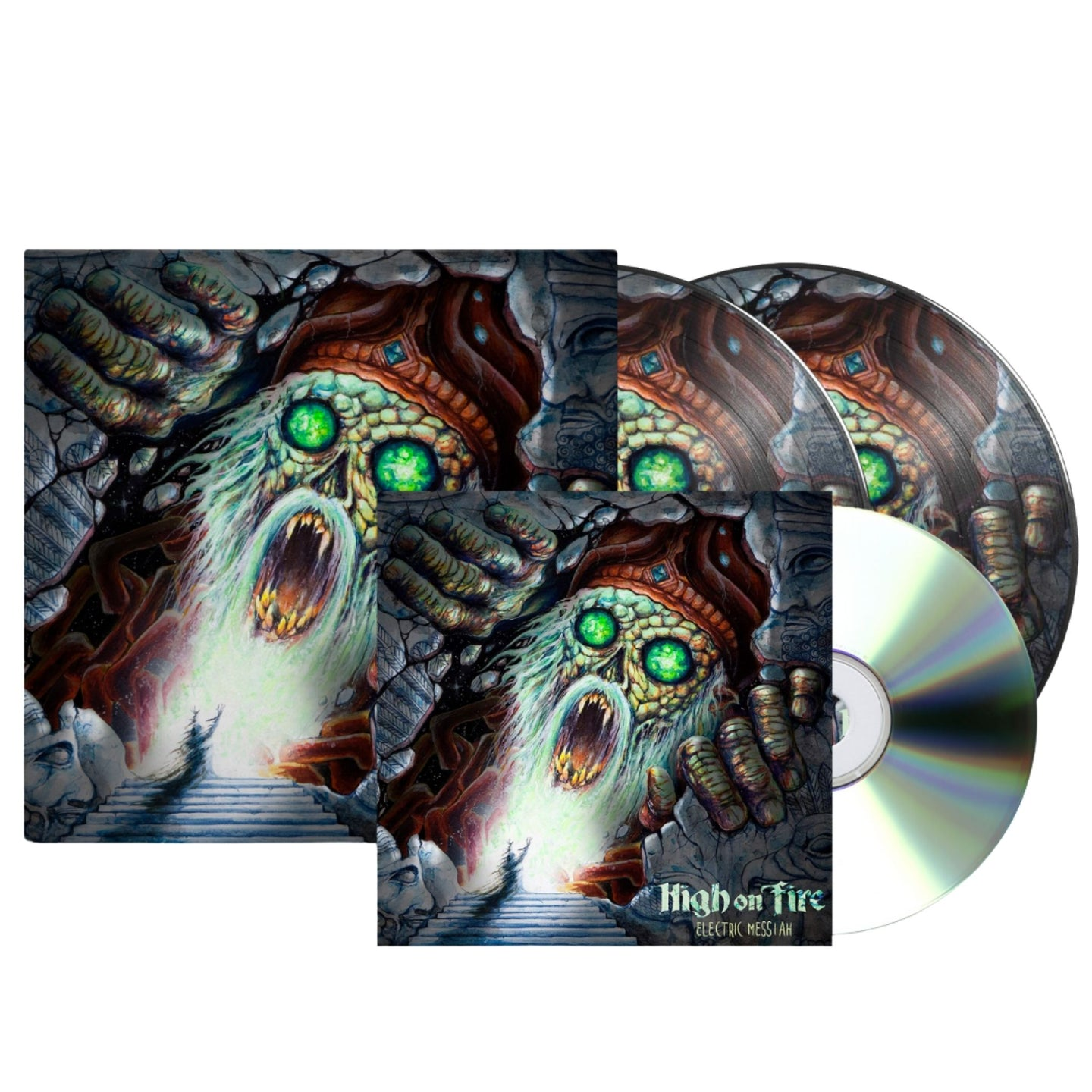High On Fire Electric Messiah Vinyl CD Bundle