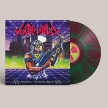 "Load image into Gallery viewer, Toxic Holocaust – ""Primal Future: 2019"" Purple/Green LP"
