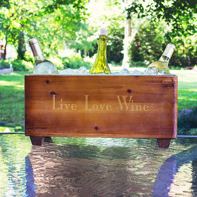 Wooden Wine Trough