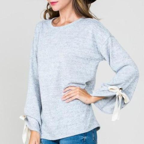 Bell Sleeve Sweater Top
