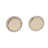 Gold Pavé Circle Earrings