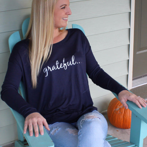 """Grateful..."" Long Sleeve Tee"