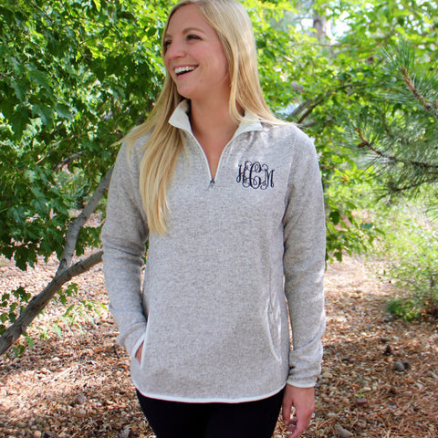 Women's Heathered Fleece Pullover