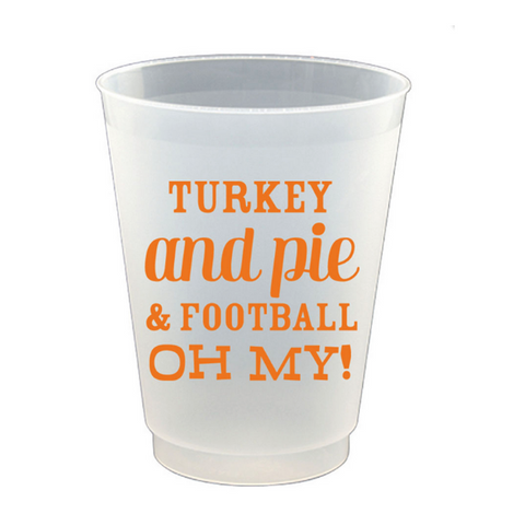 Turkey and Pie Frost Flex Cup Set