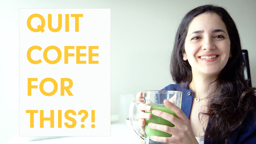 HEALTHY CAFFEINE DRINKS- ENERGIZING Iced Matcha Green Tea Latte Recipe (with boba)