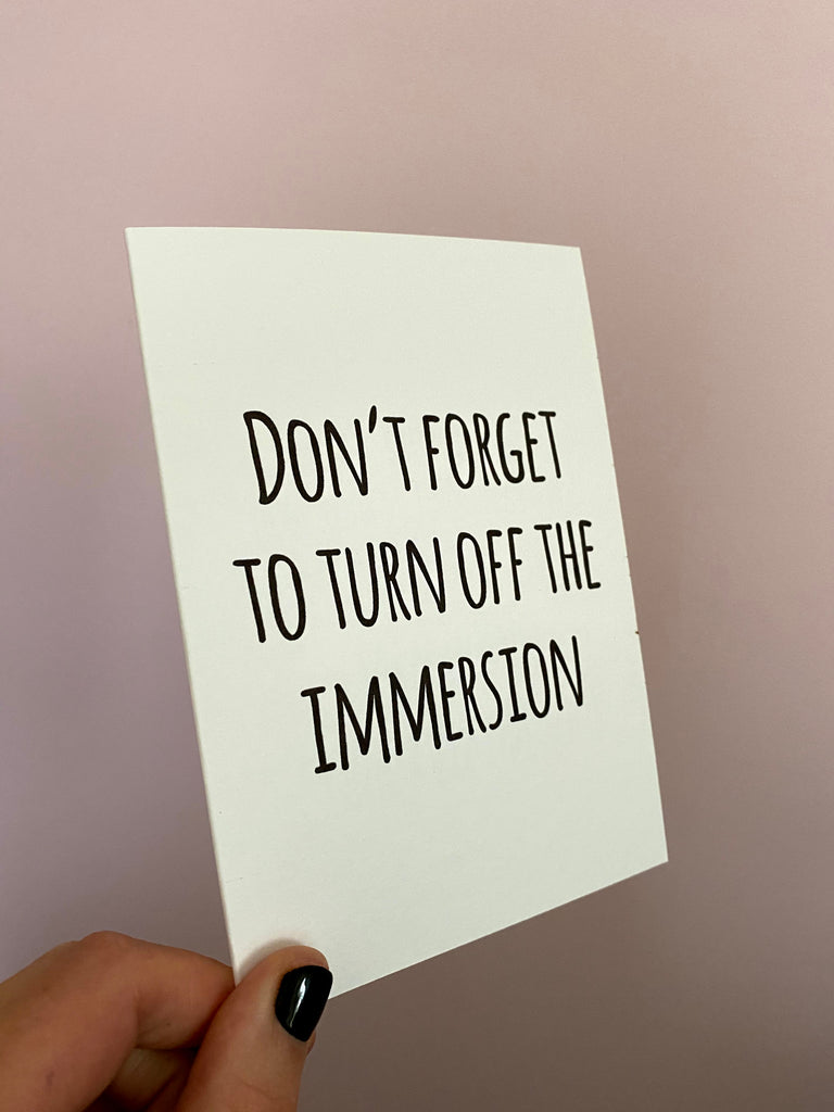 Don't forget to turn off the immersion