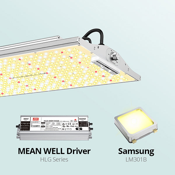 led grow light samsung diodes Mean well driver