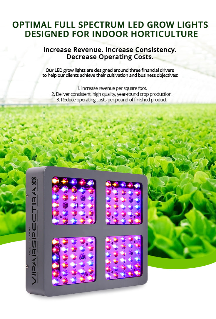 V600 600W Cover 3x3ft Daisy Chain Veg and Bloom Switches UL Certified Full Spectrum led Grow Light