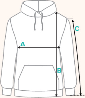 Multicolored Hoodies Size Guide