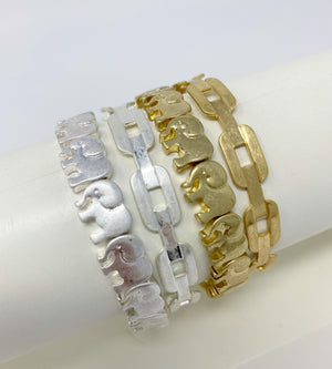 silver and gold bangles bracelet stack