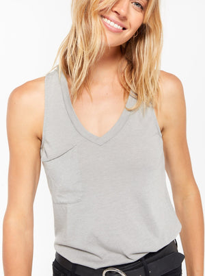 racer back tank with pocket