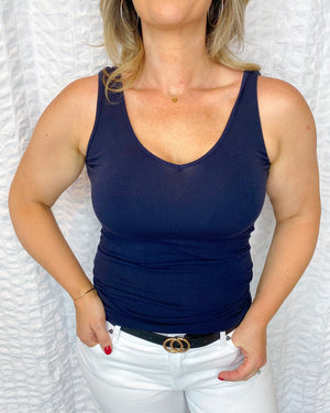 Navy one size tank