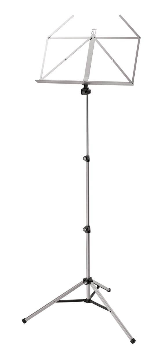 K&M #10065 Folding Music Stand, Nickel-coated