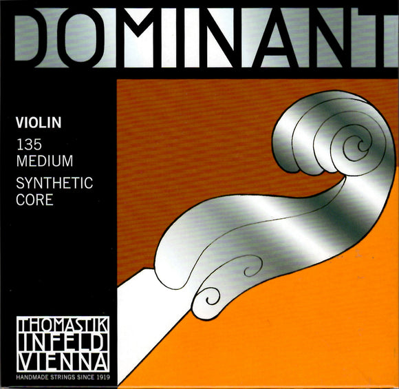 Thomastik DOMINANT 135 Violin String set, with Aluminium wound E, 4/4 size