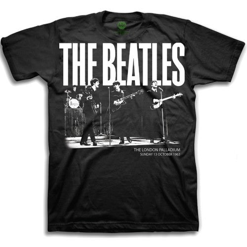 The Beatles Palladium 1963 Boys Black T-Shirt M
