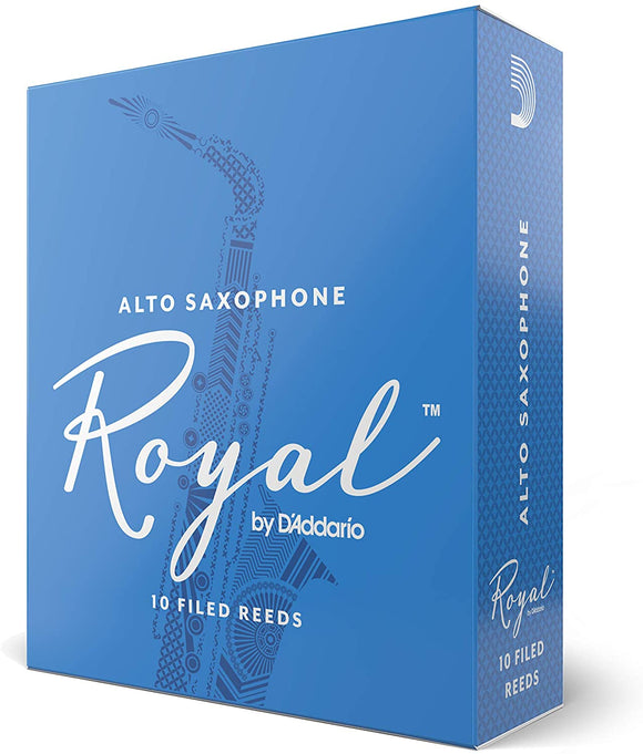 Royal by D'addario Eb Alto Saxohpone Reeds, 10pcs box (assorted strength)