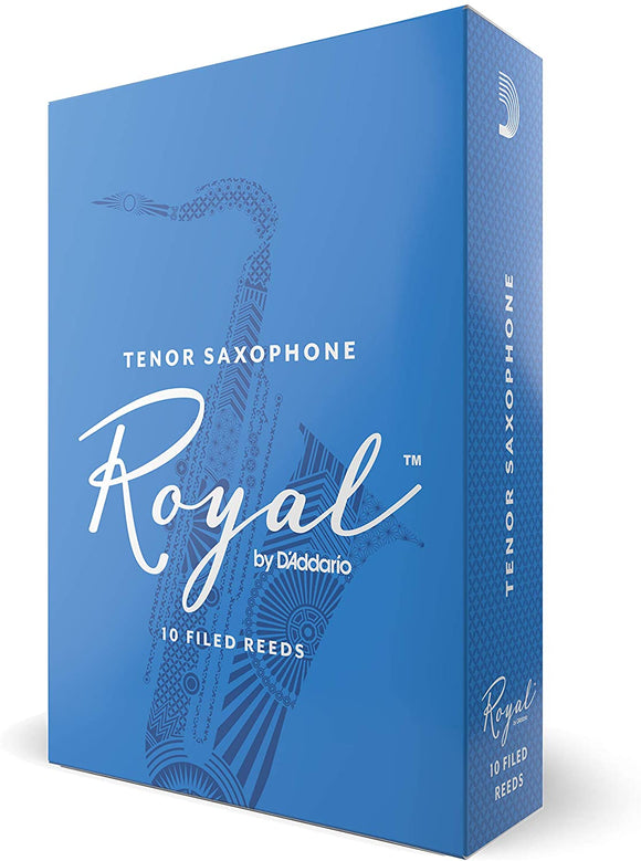 Royal by D'addario Bb Tenor Saxohpone Reeds, 10pcs box (assorted strength)