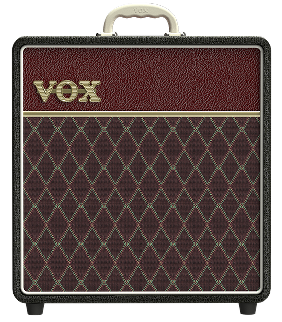 VOX AC4C1-TTBM All Tube Limited Edition Combo (Black and Maroon two-tone color)