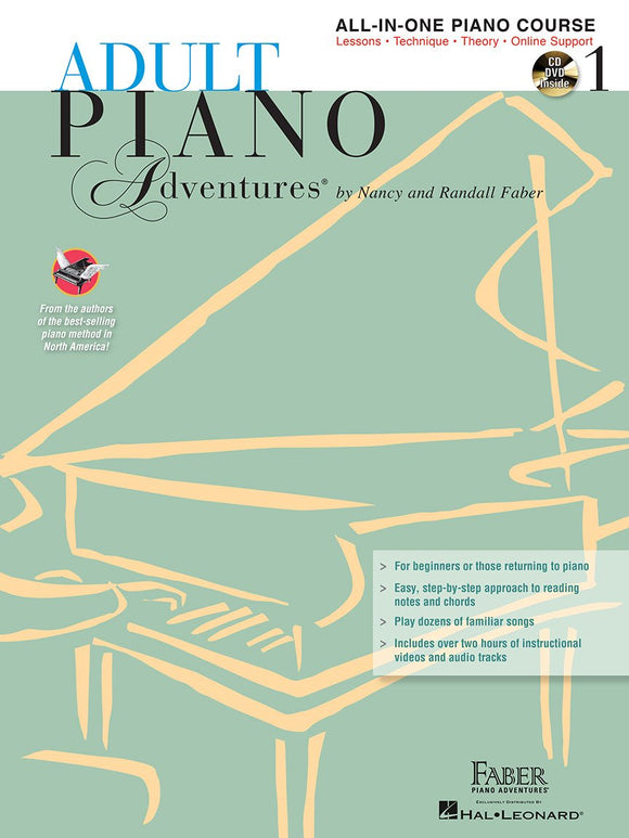 Adult Piano Adventures All-in-One Lesson Book 1 with CD, DVD and Online Support