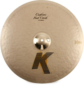 "ZILDJIAN 17"" K Custom Fast Crash Cymbal"