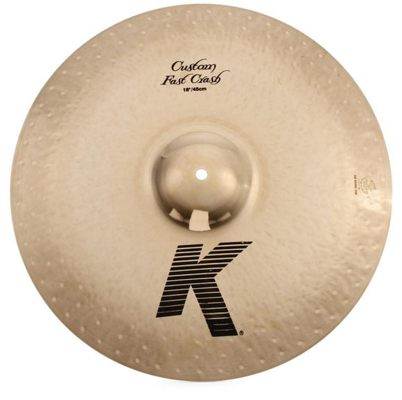 Cymbal Bundle #1 - ZILDJIAN 18  K Custom Dark Fast Crash Cymbal w/ ZILDJIAN Drum Key & ZILDJIAN GIFT PACK
