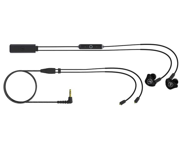 Mackie MP-240 BTA Dual Hybrid Driver Professional In-Ear Monitors with Bluetooth Adapter