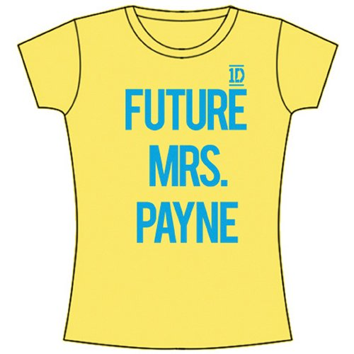 One Direction Ladies Tee: Future Mrs Payne (Skinny Fit) L
