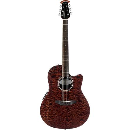 Ovation Celebrity Super Shallow Body Acoustic-Electric Guitar - Tiger Eye