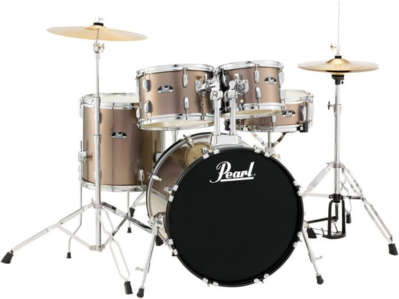 PEARL Roadshow Series 5pcs Drum Set w/ Hardware,Bronze Metal