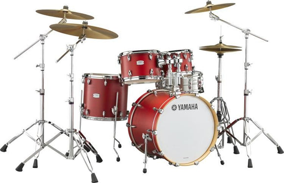 YAMAHA Tour Custom 5pcs Drum Set w/ Hardware, Apple Candy Satin