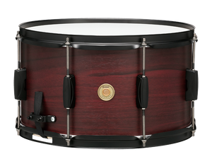 "TAMA 8""x14"" Woodworks Poplar Snare Drum Burgundy Walnut Wrap"