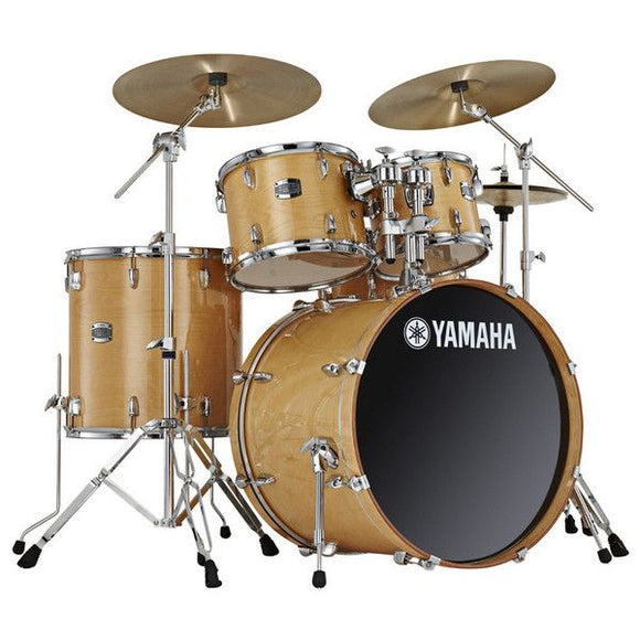 YAMAHA Stage Custom Birch 5pcs Drum Set w/ Hardware, Natural Wood