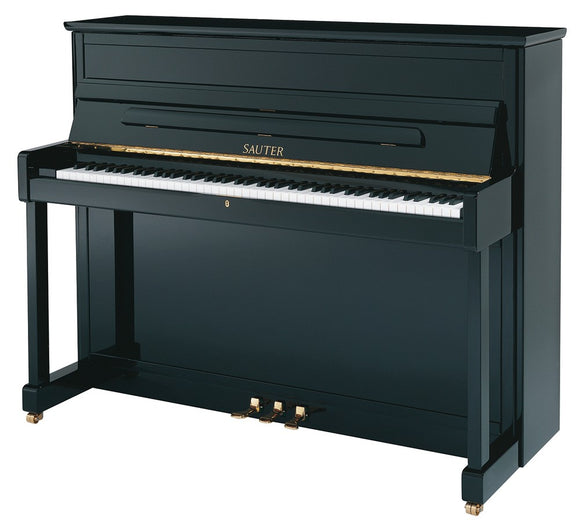 CARL SAUTER Upright Piano CARUS Ebony Polished
