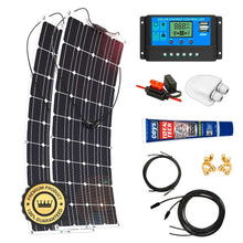 Load image into Gallery viewer, Kit Paneles Solares Flexibles 1400 W/H/Día 12V Furgoneta Camper & Autocaravana - SolarCell99