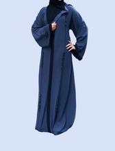 Load image into Gallery viewer, Islamic Abaya Solid Blue Model R1A-110-BL