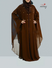 Load image into Gallery viewer, Islamic Abaya Cider color Model R1A-113-CD