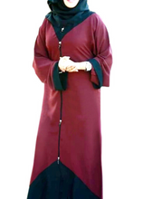 Load image into Gallery viewer, Meraaz Modern Women's Islamic  Abaya / Burqa Dress, Maroon Colour Simple Latest Design Stylish Ladies Pardha Dress - Model MA-114-MRN