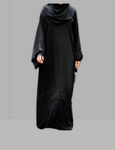 Load image into Gallery viewer, Islamic Abaya Pebble black Model R1A-102-BK