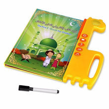 Load image into Gallery viewer, Kid's Arabic / English Audible Touchpad Book Toy, Toddler Reading Machine for Early Islamic Learning, Teaching Toy of Alphabets, Numbers, Words, Spellings etc, Best Gift for Muslim Boys & Girls.