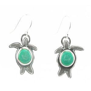 Small Turtle Earrings