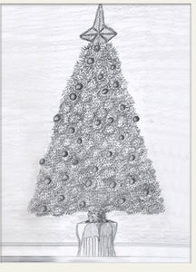 "Ready for Christmas - Print of original drawing on a 8""x10"" canvas"
