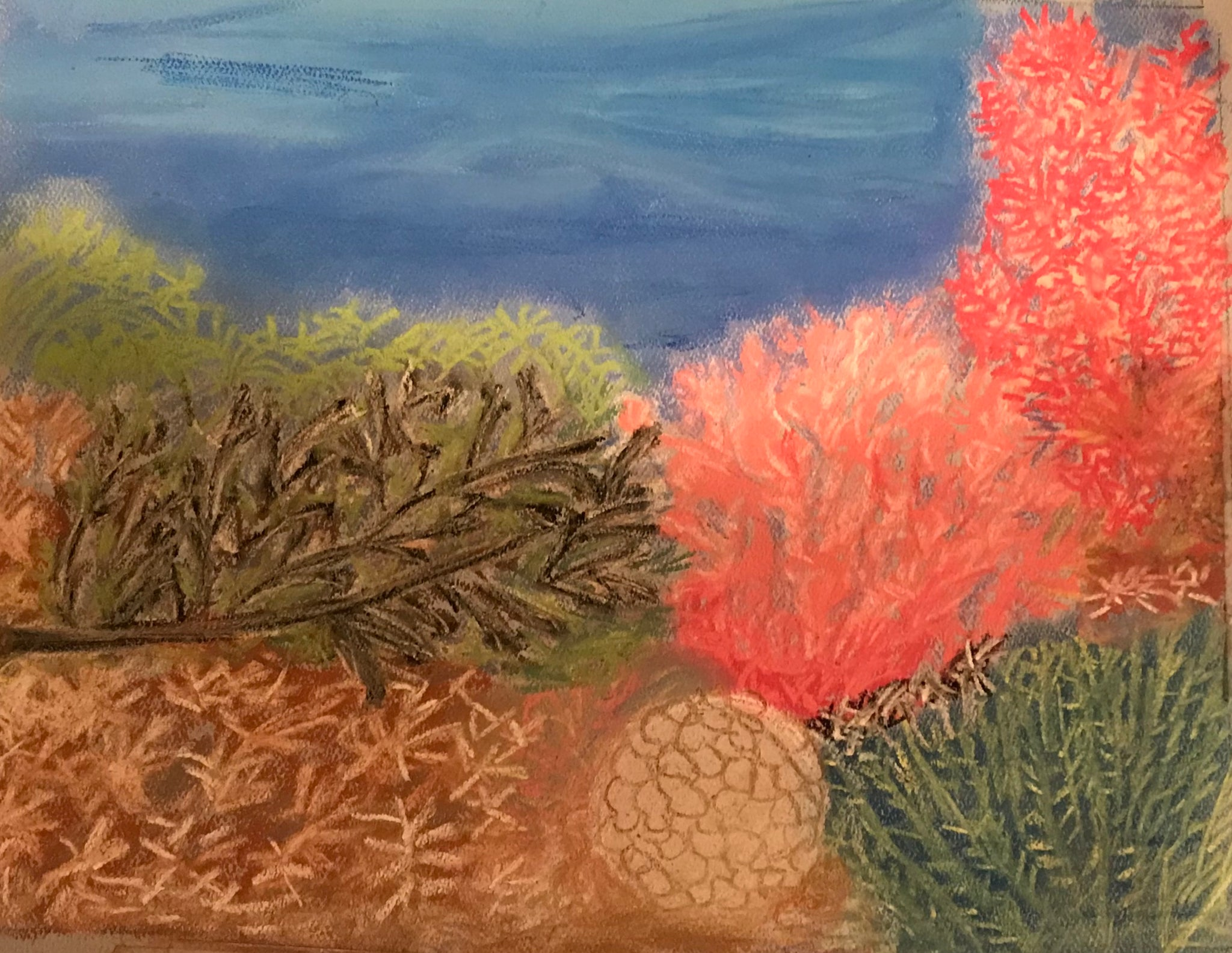 "Majestic underwater Coral - Print of original paintIng on a 8""x10"" canvas"