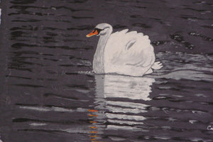 "The Strength of a Swan - Print of the  original Painting on a 8""x10"" canvas"