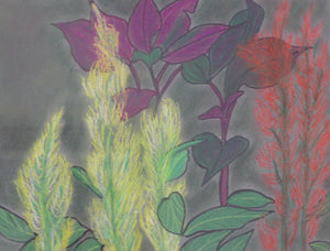 "Vibrant Color Foliage - Print of original  painting on 8""x10"" canvas"