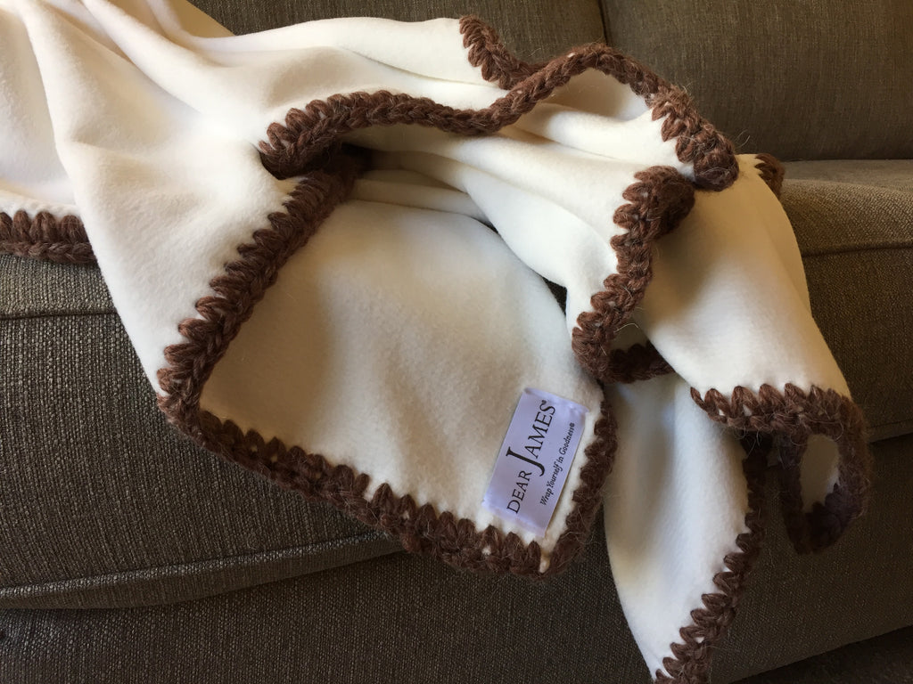 Afghan Luxe Fleece Throw - Chocolate