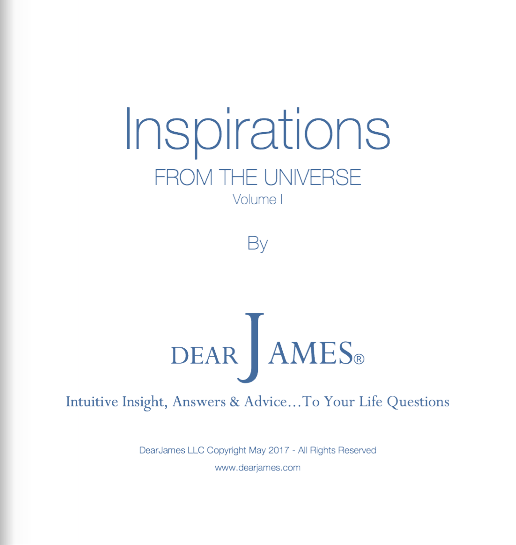 Title Page - Inspirations from the Universe - Volume I