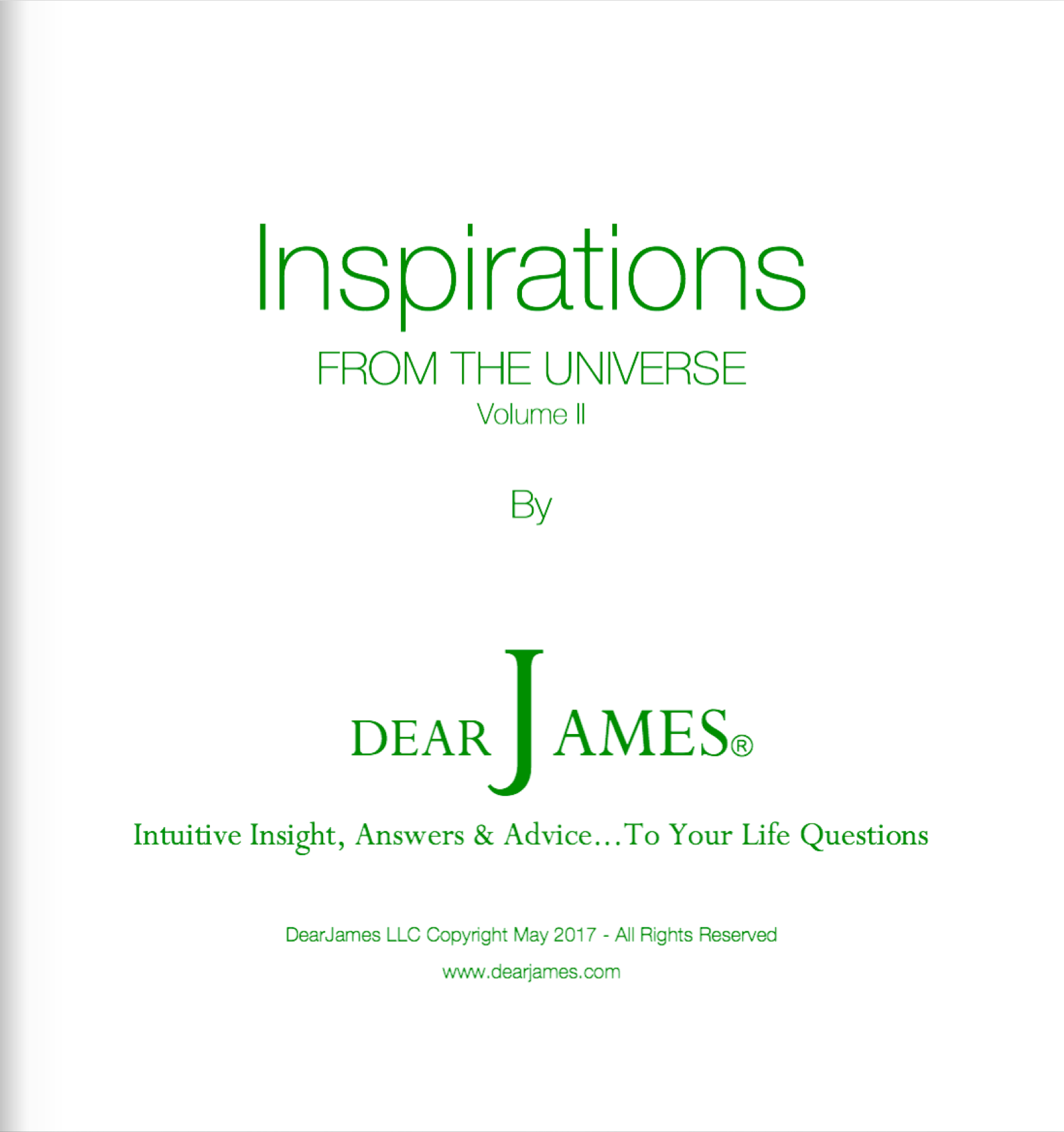 INSPIRATIONS - From The Universe - Volume II
