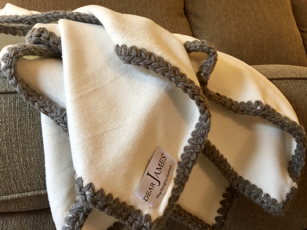Afghan Luxe Fleece Throw - Graphite