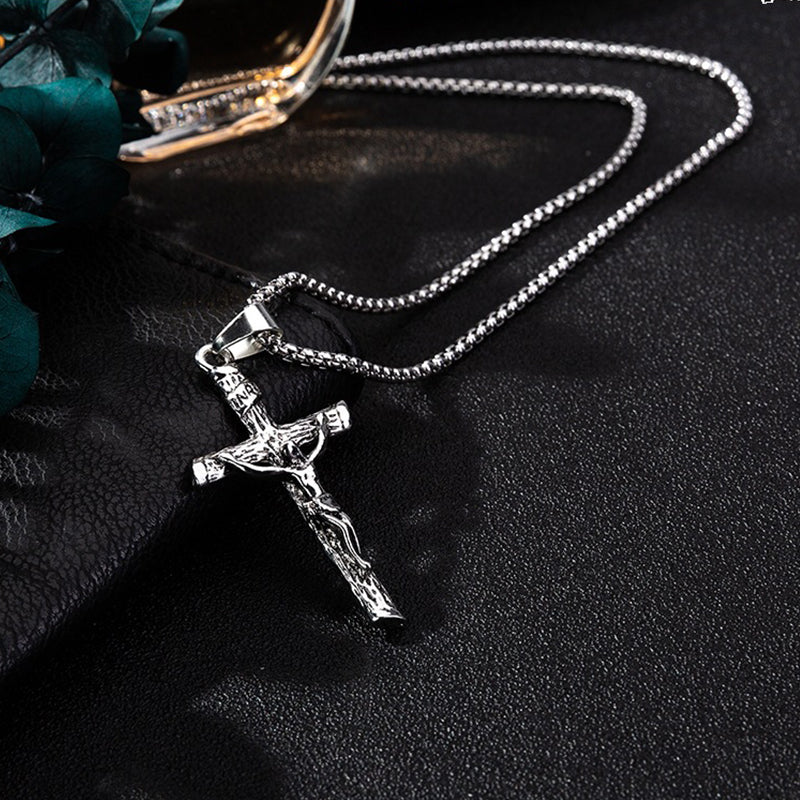 Cross Necklace Street Fashionable Chain Decor